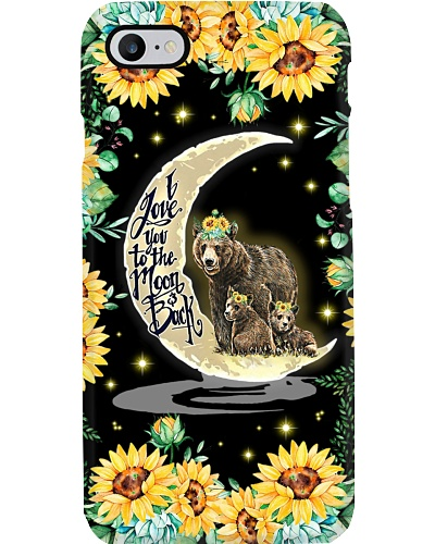 Sunflower Love You To The Moon Bear
