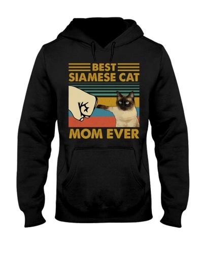 Retro Blue Best Siamese Cat Mom Ever