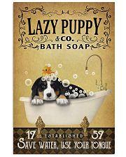 Yellow Bath Soap Bernese Mountain Dog 11x17 Poster front