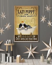 Yellow Bath Soap Bernese Mountain Dog 11x17 Poster lifestyle-holiday-poster-1