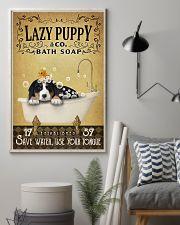 Yellow Bath Soap Bernese Mountain Dog 11x17 Poster lifestyle-poster-1
