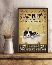 Yellow Bath Soap Bernese Mountain Dog 11x17 Poster lifestyle-poster-3