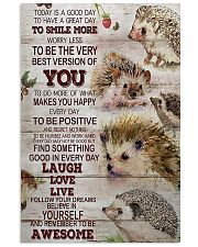 Hedgehog Today Is A Good Day 11x17 Poster front