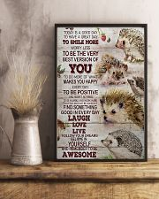 Hedgehog Today Is A Good Day 11x17 Poster lifestyle-poster-3