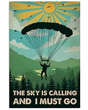 Vintage The Sky Is Calling Skydiving 11x17 Poster front