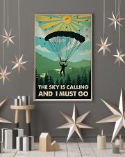 Vintage The Sky Is Calling Skydiving 11x17 Poster lifestyle-holiday-poster-1