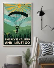 Vintage The Sky Is Calling Skydiving 11x17 Poster lifestyle-poster-1