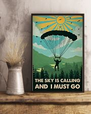 Vintage The Sky Is Calling Skydiving 11x17 Poster lifestyle-poster-3