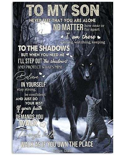 Dad To Son Never You Are Alone Wolf