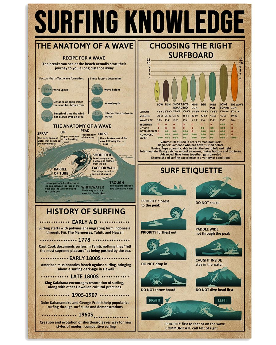 Surfing Knowledge 16x24 Poster