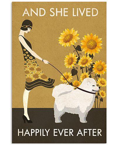 Sunflower Vintage Lived Happily American Samoyed