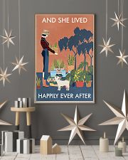 Vintage And She Lived Happily Dog Gardening 11x17 Poster lifestyle-holiday-poster-1