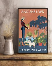 Vintage And She Lived Happily Dog Gardening 11x17 Poster lifestyle-poster-3
