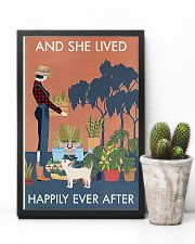 Vintage And She Lived Happily Dog Gardening 11x17 Poster lifestyle-poster-8