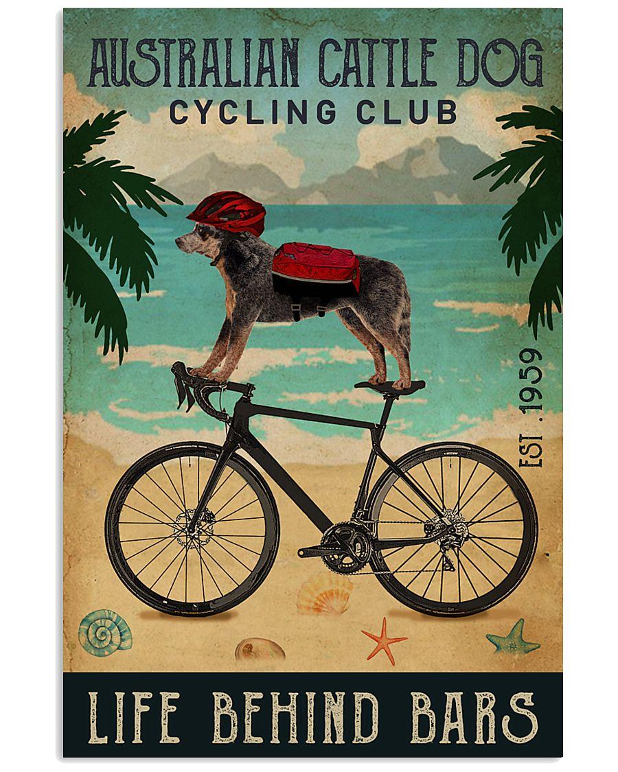 Cycling Club Australian Cattle Dog 11x17 Poster