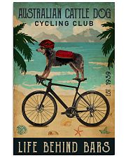 Cycling Club Australian Cattle Dog 11x17 Poster front