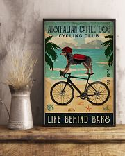Cycling Club Australian Cattle Dog 11x17 Poster lifestyle-poster-3