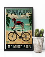 Cycling Club Australian Cattle Dog 11x17 Poster lifestyle-poster-8