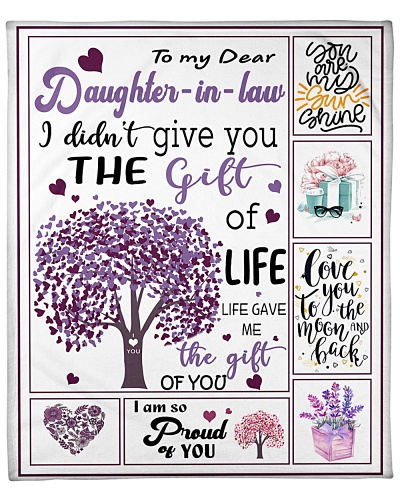 Mom To Daughter In Law Gift Of Life Purple Tree