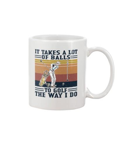 Retro Navy It Takes A Lot Of Balls Golf