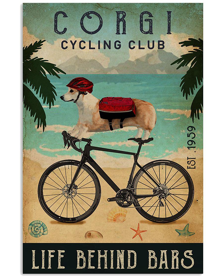 Cycling Club Corgi 11x17 Poster