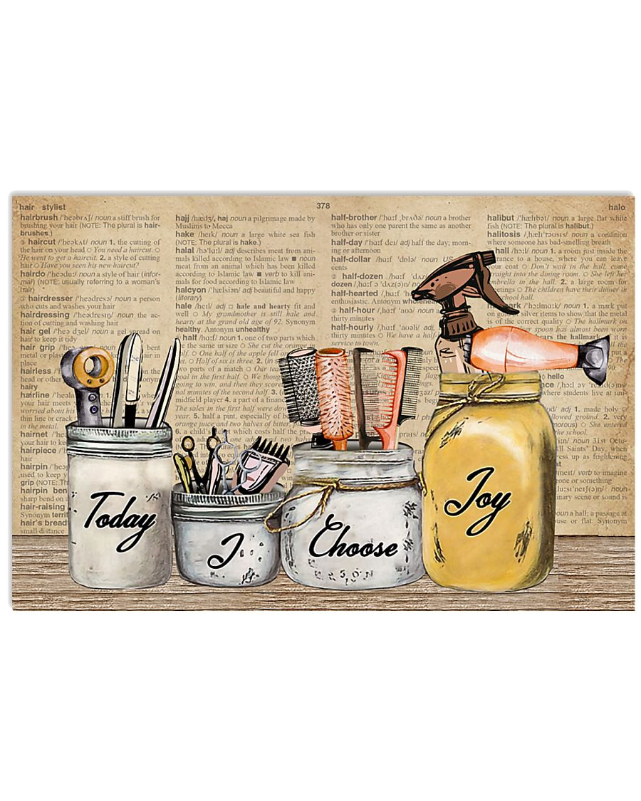 Pallet Dictionary Today I Choose Joy Hairstylist 36x24 Poster