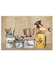 Pallet Dictionary Today I Choose Joy Hairstylist 36x24 Poster front