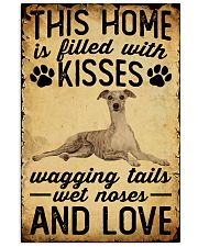 This Home Is Filled With Kisses Whippet 11x17 Poster front