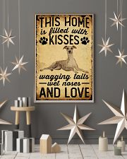 This Home Is Filled With Kisses Whippet 11x17 Poster lifestyle-holiday-poster-1