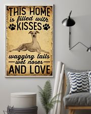 This Home Is Filled With Kisses Whippet 11x17 Poster lifestyle-poster-1