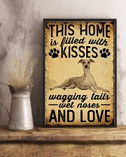 This Home Is Filled With Kisses Whippet 11x17 Poster lifestyle-poster-3