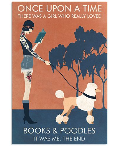 Vintage Tattoo Girl Loves Books And Poodle