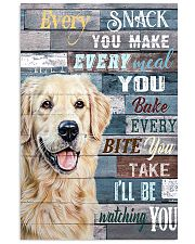 Golden Retriever Every Snack You Make 11x17 Poster front