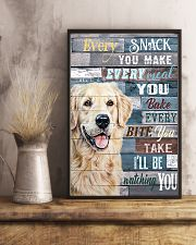 Golden Retriever Every Snack You Make 11x17 Poster lifestyle-poster-3