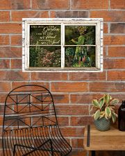 Window And Into The Garden Girl 24x16 Poster poster-landscape-24x16-lifestyle-24