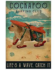 Surfing Club Cockapoo 16x24 Poster front