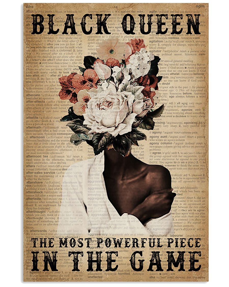 Dictionary Most Powerful Flower Black 11x17 Poster