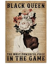 Dictionary Most Powerful Flower Black 11x17 Poster front