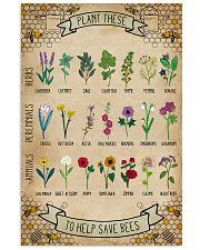 Plant These To Help Save Bees 11x17 Poster front