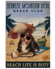 Vintage Beach Club Is Ruff Bernese Mountain Dog 11x17 Poster front