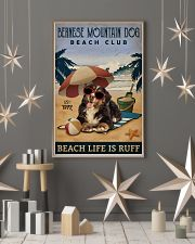 Vintage Beach Club Is Ruff Bernese Mountain Dog 11x17 Poster lifestyle-holiday-poster-1