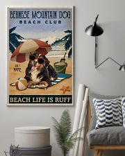 Vintage Beach Club Is Ruff Bernese Mountain Dog 11x17 Poster lifestyle-poster-1