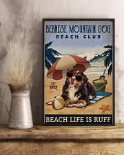 Vintage Beach Club Is Ruff Bernese Mountain Dog 11x17 Poster lifestyle-poster-3