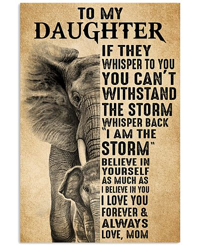 Mom To My Daughter Believe In Yourself Elephant