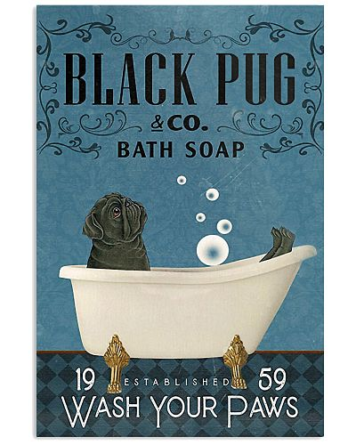 Bath Soap Company Black Pug