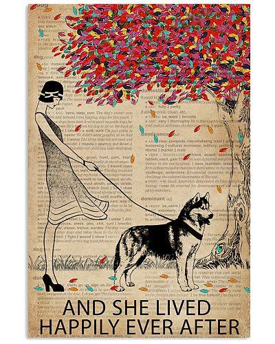Live Happily Vintage Dictionary Tree Husky