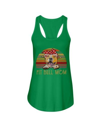 Pit Bull Mom Retro Sun