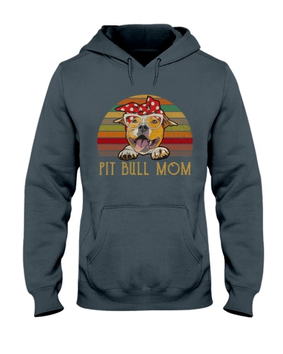 Pit Bull Mom Retro Sun