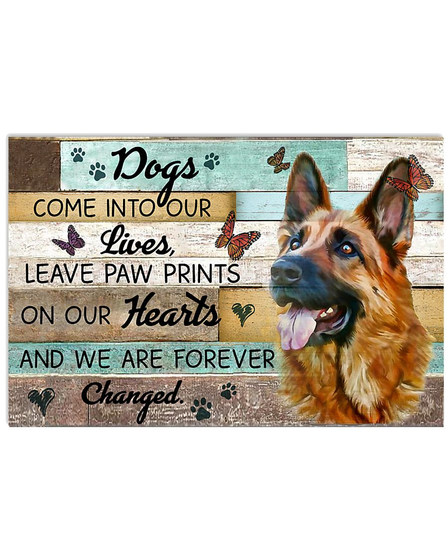 Wood Piece Come Into Our Live German Shepherd 17x11 Poster