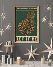 Retro Green Let It Be Butterfly  11x17 Poster lifestyle-holiday-poster-1